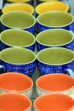 Colorfull cups Royalty Free Stock Image