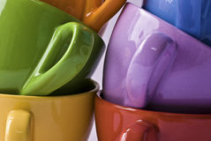 Colorfull cups Stock Photo