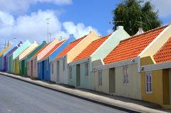 Colorfull Curacao. Curacao city old houses Royalty Free Stock Images