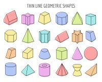 Colorfull 3d几何形状 皇族释放例证