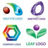 Colorfull 3D blick Logo Template Arkivbilder