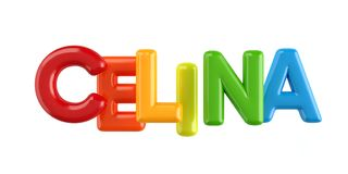 Isolated colorfull 3d Kid Name balloon font Celina. Colorfull 3d Kid Name balloon font Louis on white background Royalty Free Stock Photos