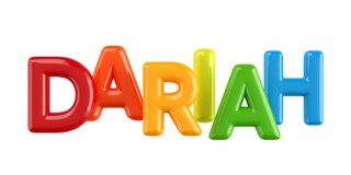 Isolated colorfull 3d Kid Name balloon font Dariah. Colorfull 3d Kid Name balloon font Louis on white background Stock Photography