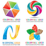 Colorfull 3D Look Logo Template Royalty Free Stock Images