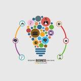 Colorfull de la idea del negocio infographic ilustración del vector