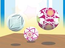 colorfull del adorno de la flor de 3 bolas Foto de archivo