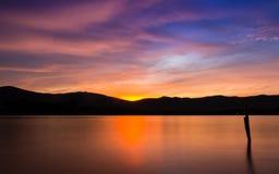Colorfull del cielo crepuscolare Fotografia Stock