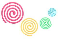 Colorfull der Moskitospirale Stockbild