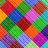 Colorfull Diamond Shapes. On Wooden Surface Stock Photos