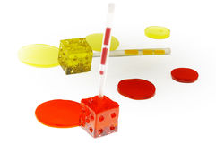 Colorfull dice lollipops Royalty Free Stock Photo