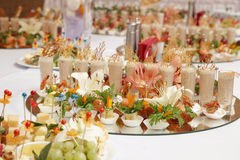 Colorfull dishes for party Royalty Free Stock Photography