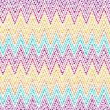 Colorfull dots  chevron  pattern. Royalty Free Stock Images
