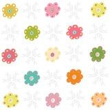 Colorfull enkla blommor som hälsar vektorn Arkivfoto