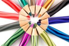 Colorfull färgblyertspenna Fotografering för Bildbyråer