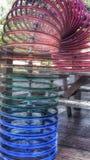 Colorfull-Fahrradfelgen Stockfoto