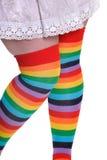 Colorfull female stocking Stock Photo