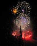 Colorfull-Feuerwerke Stockfoto
