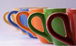 colorfull filiżanki Zdjęcia Stock