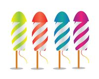 Fireworks rocket illustration. Colorfull fireworks rocket illustration design Stock Image