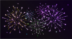 Colorfull Fireworks Stock Photos