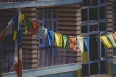Colorfull flaggor Fotografering för Bildbyråer