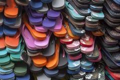 Colorfull flip flops in khaosan street Stock Photo
