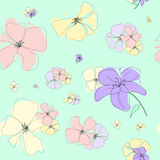 Colorfull floral seamless background Stock Image