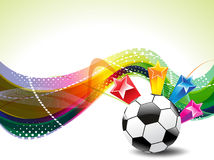 Colorfull Football Background With Stars Stock Photo