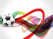Colorfull Football Background Stock Photos