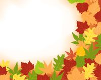 Colorfull frame of fall leaves. Abstract autumn, fall background with foliage and copy space. Use of blends, clipping masks and global colors. Artwork grouped Royalty Free Stock Photo