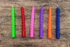 Colorfull-Geburtstags-Kerze Lizenzfreies Stockfoto