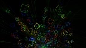 Colorfull geometric background animation royalty free illustration