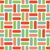 Colorfull geometrisch vectorpatroon in retro stijl, moderne modieuze textuur, abstracte achtergrond Roze, groen rood, en royalty-vrije illustratie