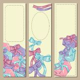 Colorfull gift box banners for your design Stock Photos