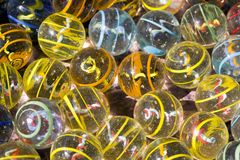 Colorfull glass marbles Stock Photo