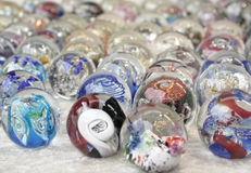 Colorfull glass marbles Stock Image