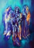 Colorfull goddelijke engel Eigentijds art. stock illustratie