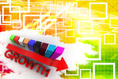 Colorfull Growth Bar Graph  Illustration Royalty Free Stock Photos