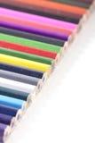 Colorfull ha colorato le matite Fotografia Stock