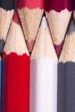 Colorfull ha colorato le matite Immagini Stock Libere da Diritti