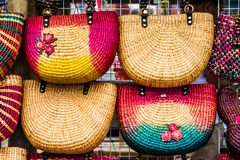 Colorfull handmade bags Royalty Free Stock Photography