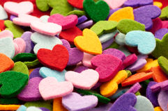 Colorfull Hearts Stock Photo