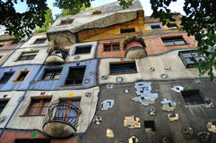 Colorfull house,Friedensreich Hundertwasser Stock Images