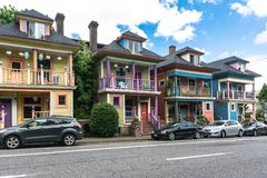 Colorfull houses in Portland, Oregon Royalty Free Stock Photo