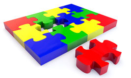Colorfull jigsaw puzzle Stock Images