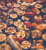 Colorfull, légumes grillés semblant délicieux Photos stock