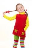 Colorfull little girl 2 Stock Photos