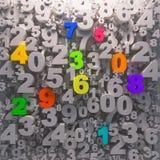 Regnbågen färgar alfabetbakgrund Arkivbild