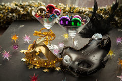 Colorfull Masks for masquerade party. Royalty Free Stock Photography