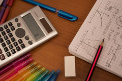 Colorfull mathematics Stock Images